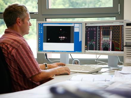 CAD-Planung in firmeneigenen Ingenieurbüros